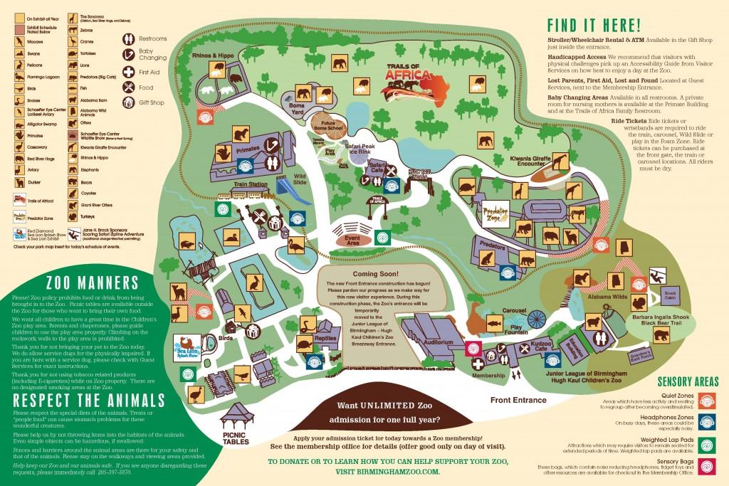 Birmingham Zoo Map - Oct 2015