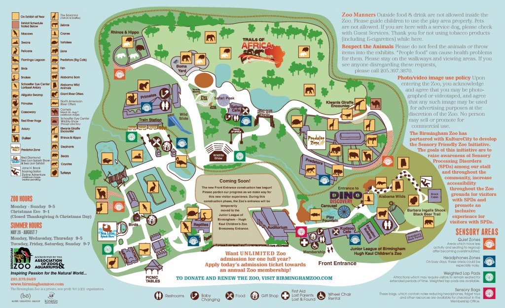 Zoo Map - March 2016