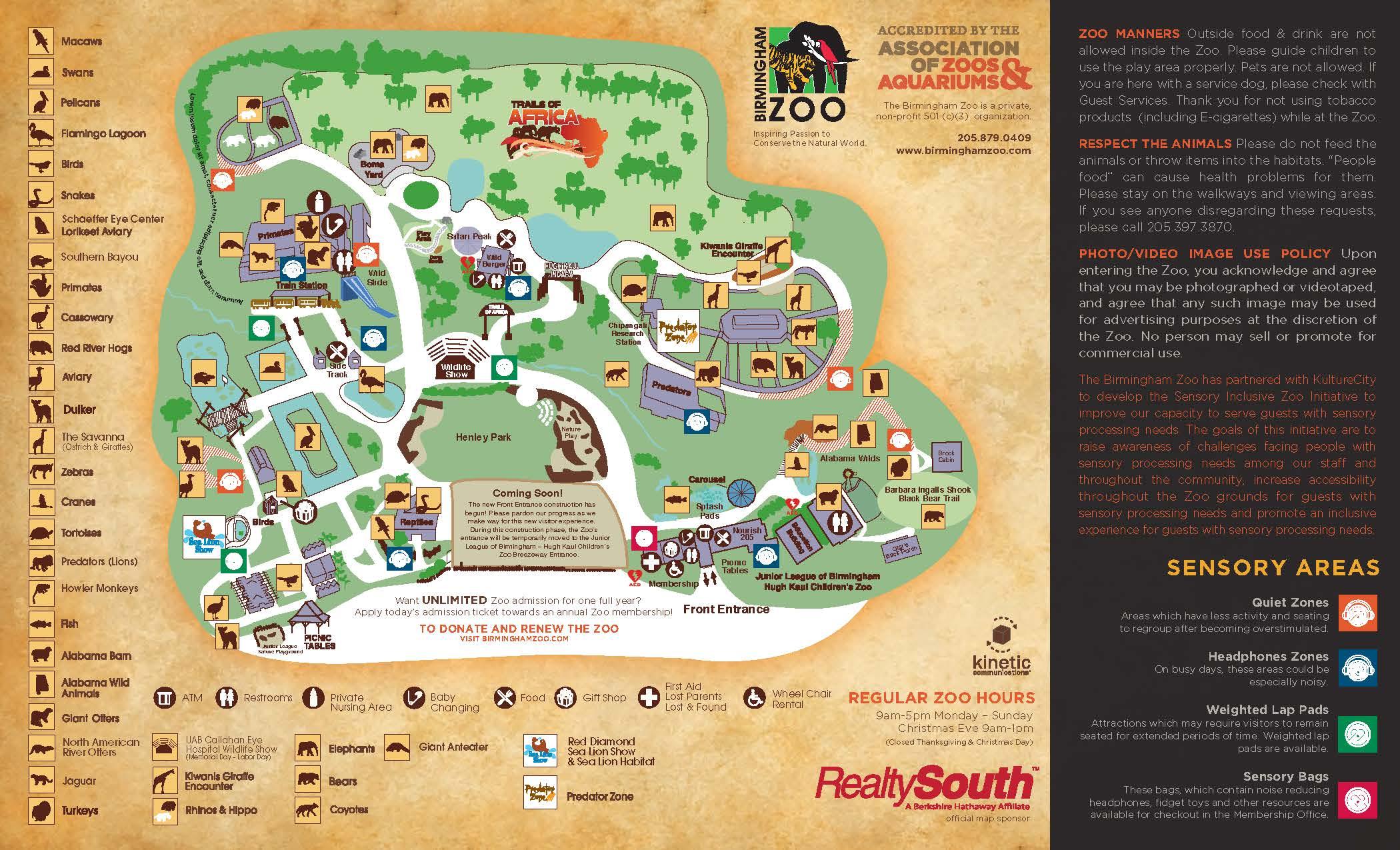 Zoo Map | Birmingham Zoo