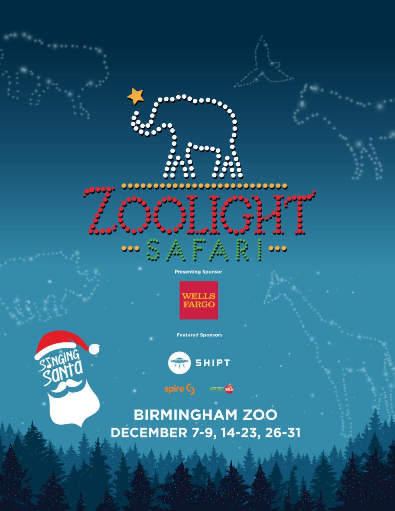 Birmingham Nightlife Calendar December 2020 ZooLight Safari presented by Wells Fargo at the Birmingham Zoo